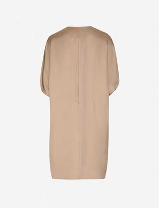 Lenci flared sleeve woven mini dress