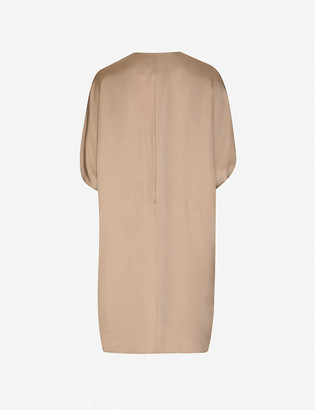 Taiga Takahashi Lenci flared sleeve woven mini dress