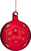 Marquis by Waterford 2014 Annual Red Ball Christmas Ornament