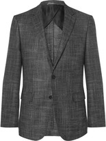 HUGO BOSS Grey Slim-Fit Virgin Wool-Blend Blazer