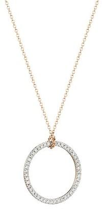ginette_ny Circles 18K Rose Gold & Diamond Mini Circle Pendant Necklace