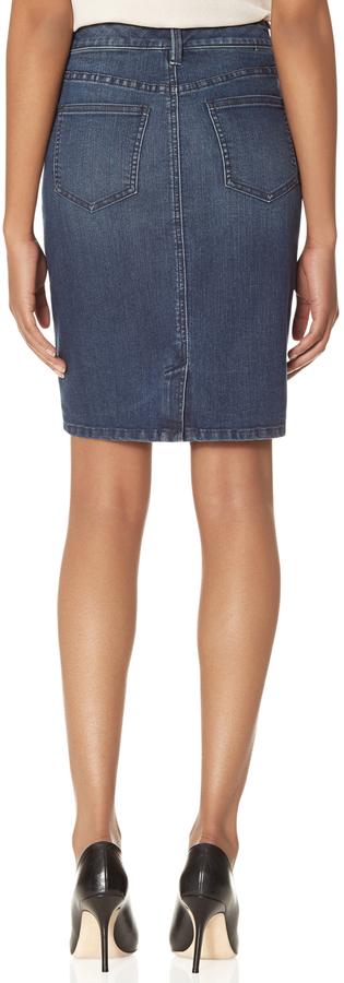 The Limited Denim Pencil Skirt