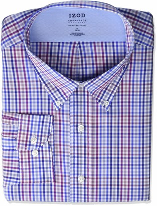 Izod Men's Tall Dress Shirt Big Fit Stretch Cool FX Check