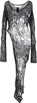 Isabel Benenato open knit asymmetric blouse - women - Cotton - 42