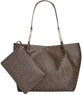 Calvin Klein Large Reversible Pebble Tote with Pouch
