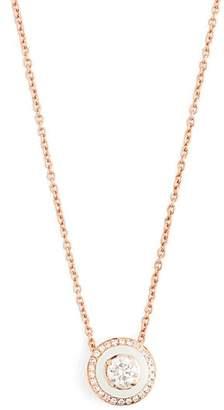 Selim Mouzannar Diamond, Enamel & Pink Gold Mina Necklace - Womens - White