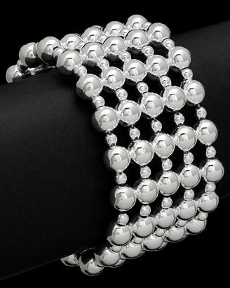Italian Silver Beaded Cuff