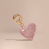 Burberry Sequinned Heart Suede Key Charm