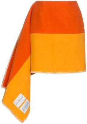 Calvin Klein striped blanket skirt