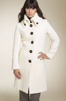 Wool Twill Walking Coat with Back Buckle Detail