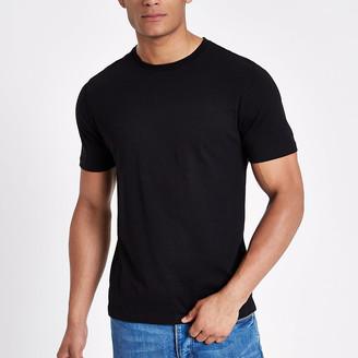 River Island Black slim fit crew neck T-shirt