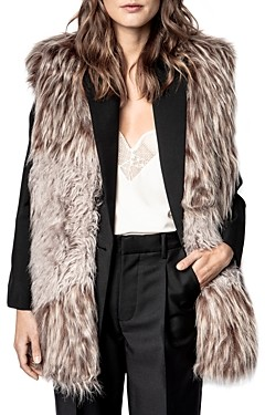 Zadig & Voltaire Fig Faux Fur Vest