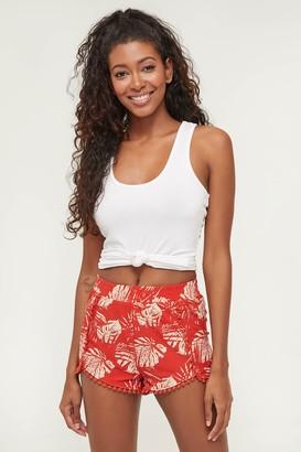 Ardene Leaf Print Crochet Shorts