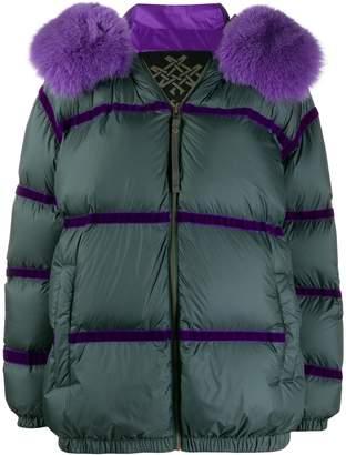 Mr & Mrs Italy tape-embellished puffer jacket