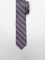 Calvin Klein Slim Seed Stitch Stripe Tie