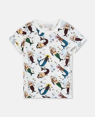 Stella McCartney mermaids tye & dye cotton t-shirt