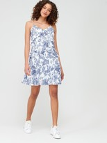 Very Pleated Toile Flippy Dress - Print