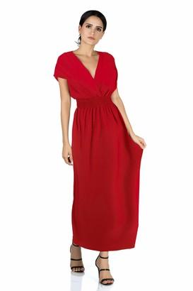 Mia Suri Long Casual Ladies Maxi Summer Holiday Short Sleeved Kimono Beach Sun Dress Elastic Waist UK 12 14 M Black Vine Leaves
