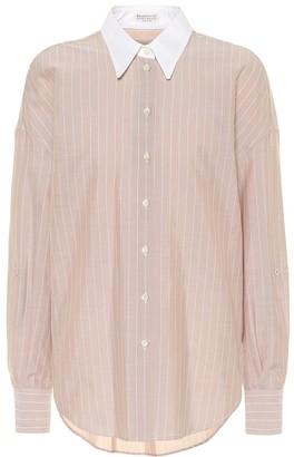 Brunello Cucinelli Striped cotton shirt