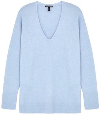 Eileen Fisher Light Blue V-neck Cashmere-blend Jumper