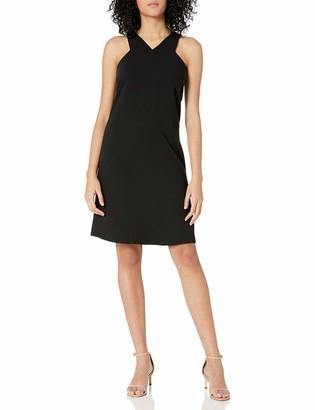 A X Armani Exchange Women's X Neck Line Above The Knee Dress