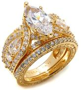 Victoria Wieck 4.82ctw Absolute Marquise & Round Bridal Ring Set