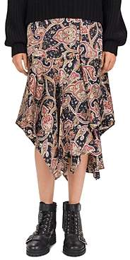 The Kooples Tanger Printed Silk Midi Skirt
