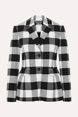Altuzarra Fenice Gingham Wool-blend Twill Blazer - Black