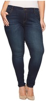 KUT from the Kloth Plus Size Diana Skinny Jeans in Systematic w/ Euro Base Wash Women's Jeans