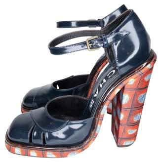 Rochas \N Navy Patent leather Heels