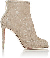 Dolce & Gabbana Women's Lace Ankle Boots-NUDE