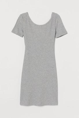 H&M Ribbed bodycon dress