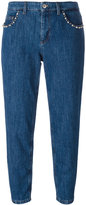 Miu Miu stoned pockets cropped jeans - women - Cotton/Polyester/plastic/metal - 26