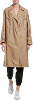 Moncler Vanille Long Raincoat