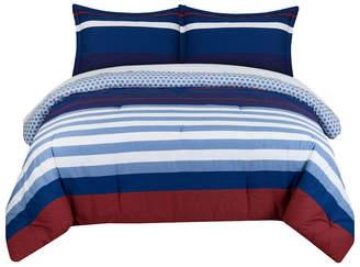 Nautical Stripe King Comforter Set Bedding