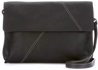 Mint Velvet Ellen Black Leather Clutch Bag