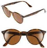 Ray-Ban Women's 'Highstreet' 51Mm Round Sunglasses - Dark Havana
