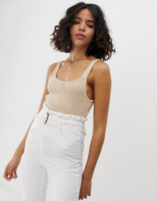 NATIVE YOUTH knitted cami top in rib