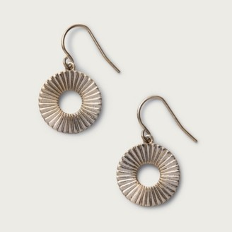 The White Company Disc Earrings, Pale Gold, One Size