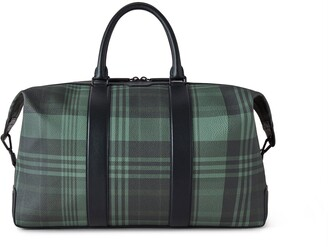 Mulberry Zipped Weekender Green Printed Eco Scotchgrain and Flat Calf
