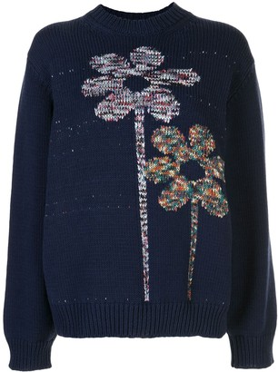 M Missoni Flower Knit Oversized Jumper