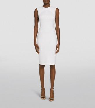 St. John Ribbon-Texture Knit Dress