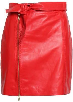 J Brand Zip-detailed Leather Mini Skirt