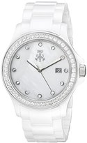 Jivago Women's JV9410 Ceramic Analog Display Quartz White Watch