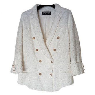 Balmain White Tweed Jackets