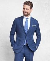 Brooks Brothers Golden Fleece BrooksCloud Blue Silk and Linen Twill Suit