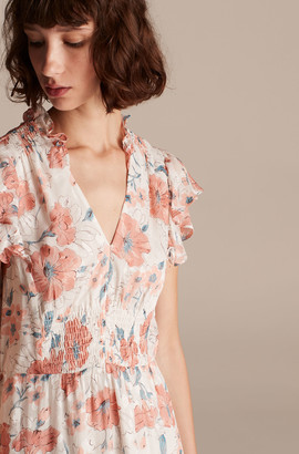 Rebecca Taylor Amelie Fleur V-Neck Dress