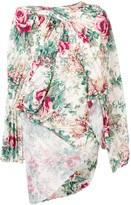Junya Watanabe asymmetric floral print blouse