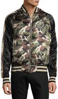 Members Only Men's Reversible Camo Zip-Front Bomber Jacket - Green, Size xx-large