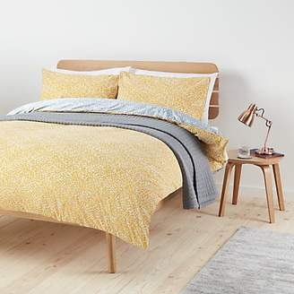 House by John Lewis & Partners Yin Duvet Cover Set, Mustard / Grey